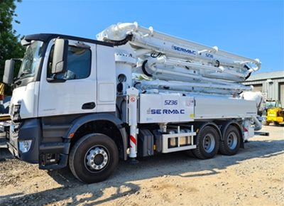1 off New MERCEDES / SERMAC model ZENITH 5Z36 SCL130A Truck Mounted Concrete Pump