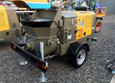 1 off Ex-Hire HYDROPUMP / TURBOSOL model TB40/T Trailer Mounted Concrete Pump (2018)