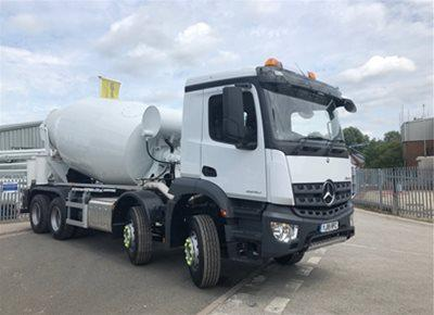 2 off New MERCEDES / McPHEE 8/9m3 Standard Transit Concrete Mixers (2019)