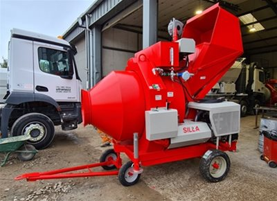 2 off New HYDROMIX BIR750/ID Diesel Reversible Drum Concrete Mixers (2019)