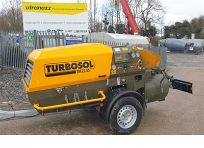 1 off New HYDROPUMP / TURBOSOL model TRANSMAT 27.45 DC/T Mortar & Screed Mixer/Pump (2019)