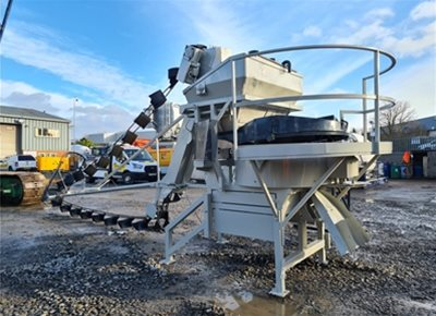 1 off Used HYDROMIX / PICCINI model MF400/CTP Wet Concrete Batching Plant c/w Vertical Silo (2006)