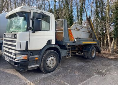 1 off Used SCANIA Skip Lorry (2004)