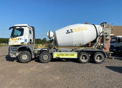 2 off Used MERCEDES / SCHWING-STETTER AM8FHCLL 8m3 Standard Transit Concrete Mixers (2015)
